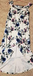 Venus Floral High Low Dress